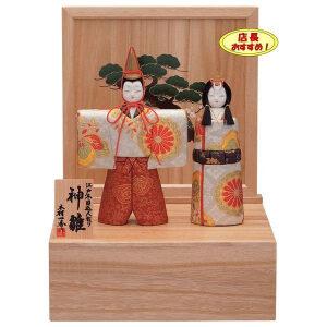 木目込み雛人形収納飾りコンパクト立雛人形