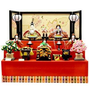雛人形コンパクト3段飾りおしゃれセット