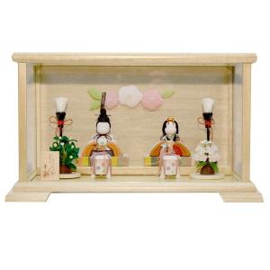 雛人形 木目込み ケース飾り コンパクト ミニ かわいい 幸一光 ひな人形