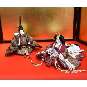 高級 雛人形 龍村織物の親王飾りひな人形セット